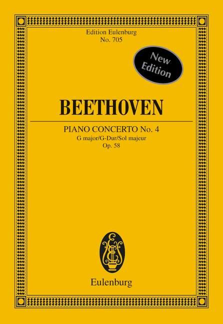 Populair Merk Concerto No. 4 G Major Op. 58 Beethoven Study Score Piano And Orchestra 979020 Aangenaam Voor Het Gehemelte